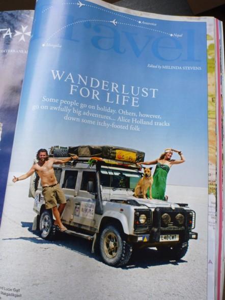 The Vagabond Adventures open Travel section in Tatler Magazine April 2012 - Wanderlust for life