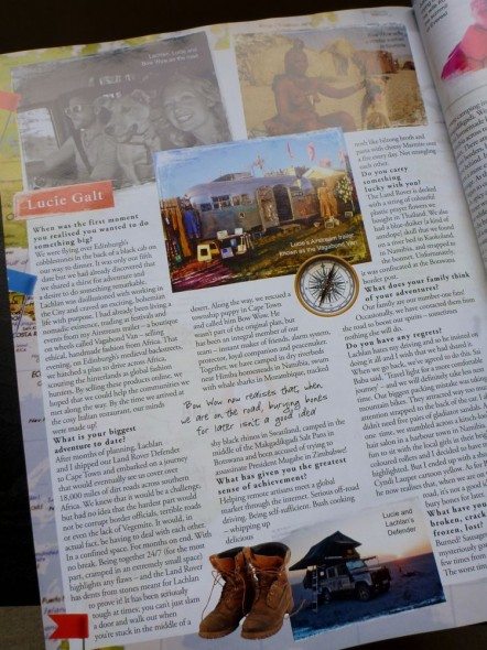 The Vagabond Adventures open Travel section in Tatler Magazine April 2012 - Wanderlust for life page 2