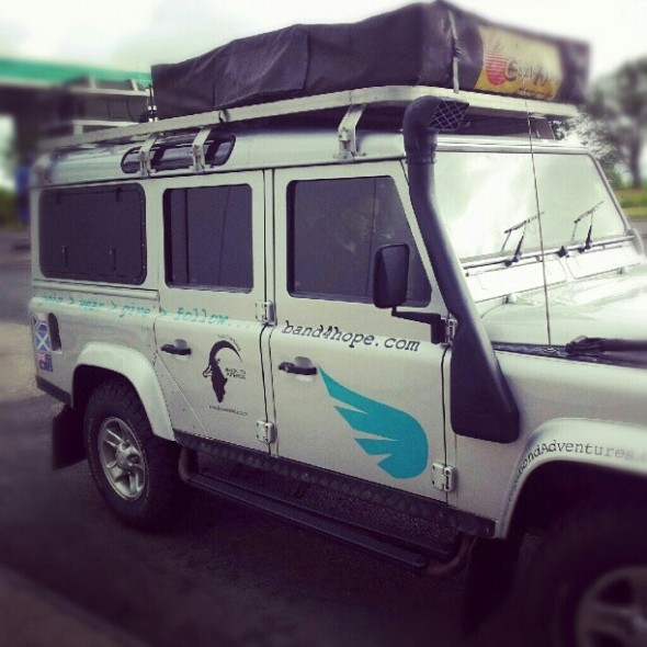 Lula the Landy now rebranded as The Hope Truck 4 The Band4Hope Project