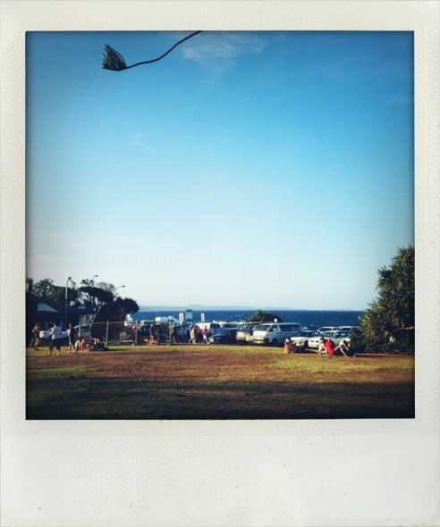 Byron Bay beach and market by the beach in New South Wales in Australia. Taken by Miriam McWilliam.