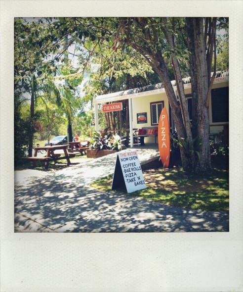 Little shop at the caravan park in Byron Bay in New South Wales in Australia in the sunshine.
