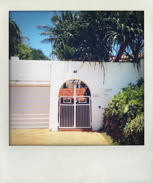 Lovely gate in Byron Bay in New South Wales in Australia in the sunshine.
