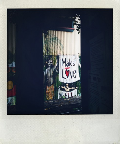 Nimbin Museum in New South Wales in Australia make love art work. Taken by Miriam McWilliam.