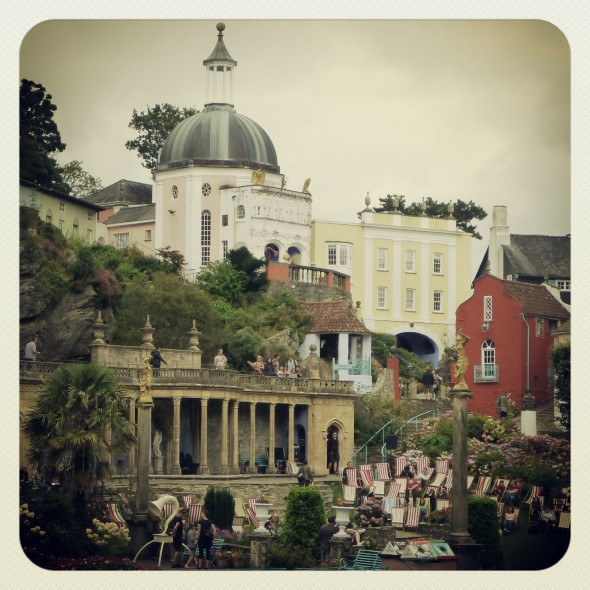 Central piazza at Festival Number 6 in Portmeirion Wales