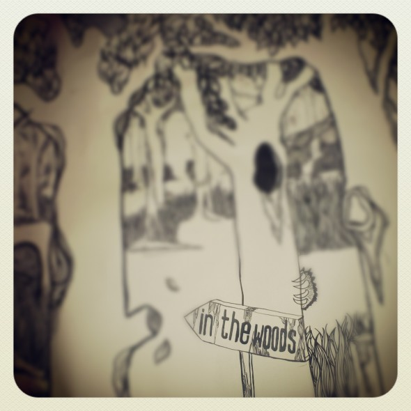 In the Woods Festival illustration of trees