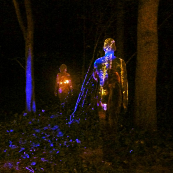 Rob Mulholland mirror sculptures at In the Woods Festival