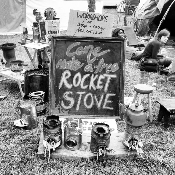The free Rocket Stove workshop at Shambala Festival