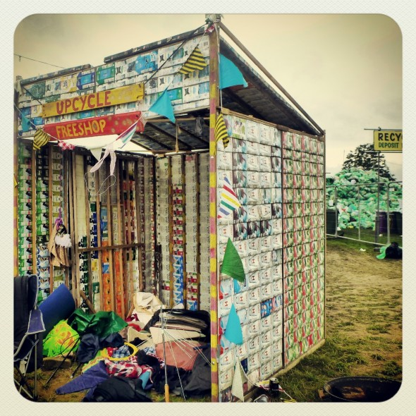 Upcycle Tetra Shak Shack made of Tetra Pak cartons at Shambala Festival 2012